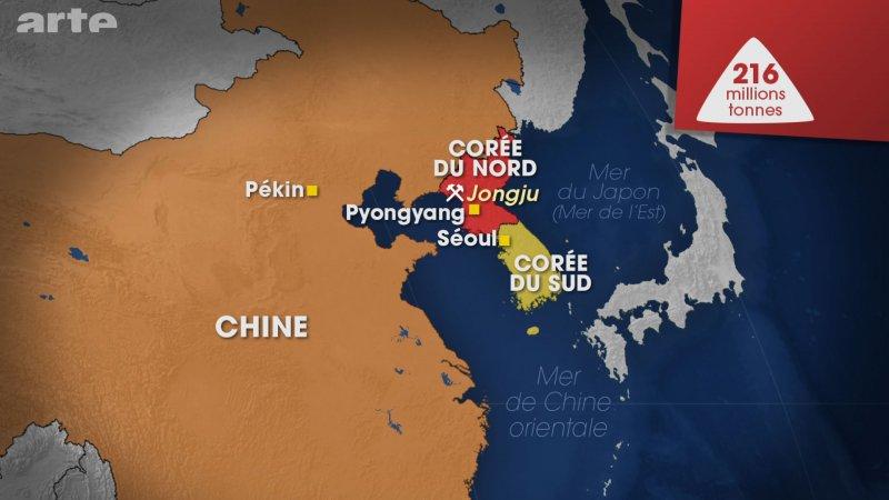 Localisation des terres rares en Corée du Nord