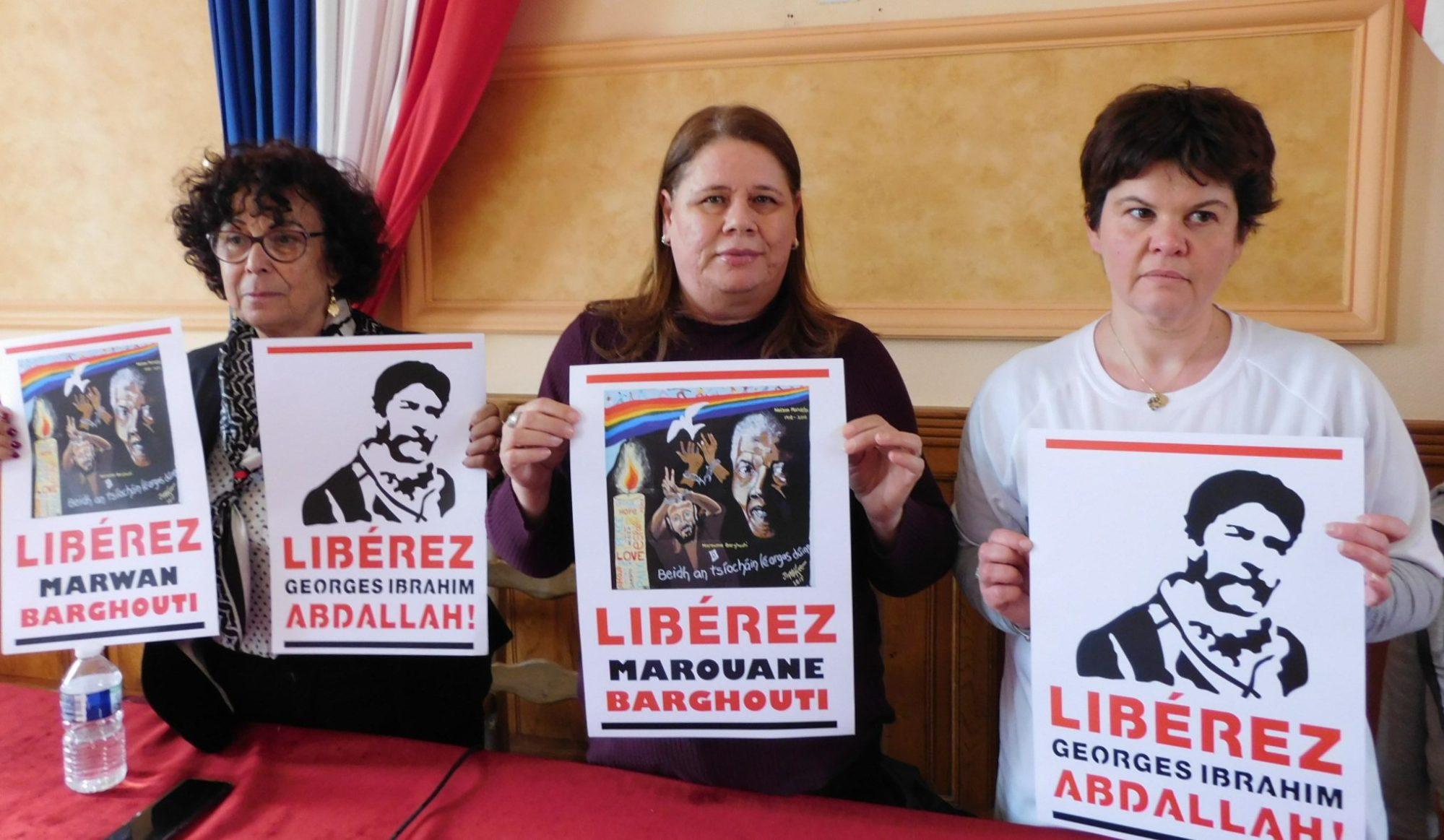 Marwan Barghouti luttant en France pour la libération de son mari