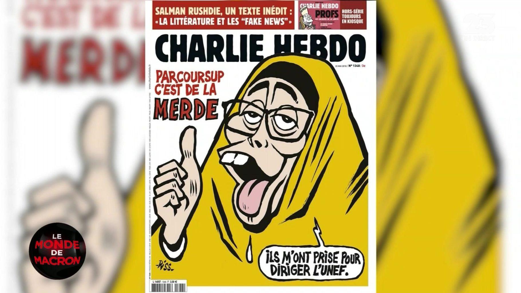 Page de couverture 'un numéro de Charlie Hebdo en 2018