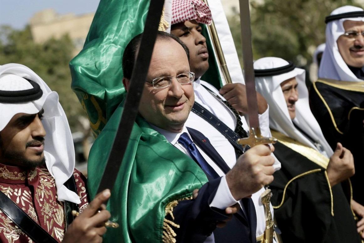 François Hollande en visite officielle dans un pays arabe