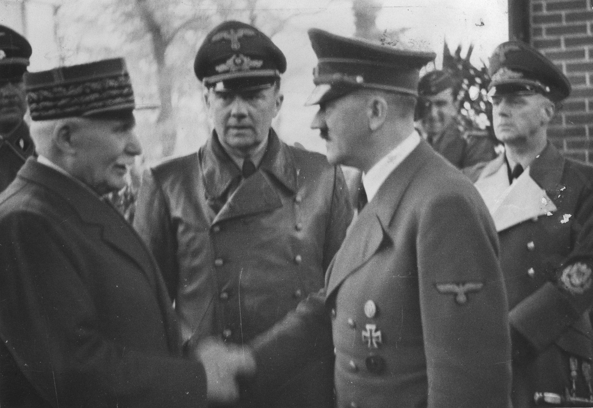 Rencontre entre Hitler et Pétain en 1940
