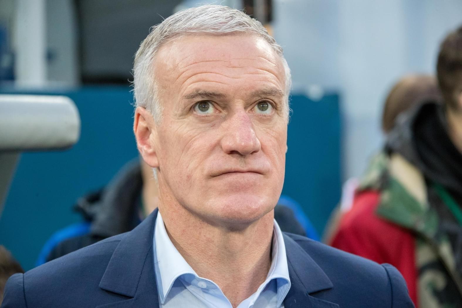 Sélectionneur de l'équipe de football française Didier Deschamps