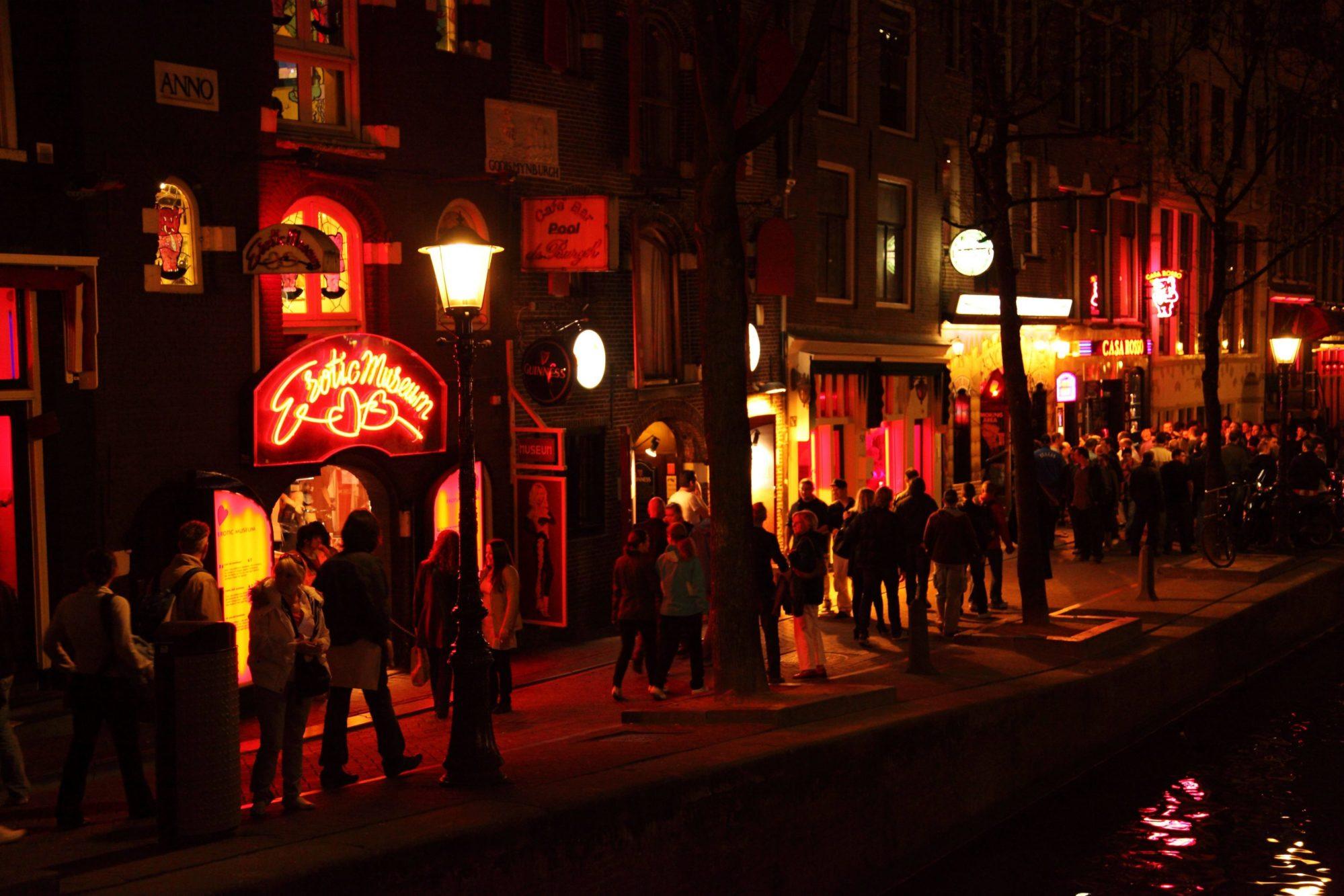 Quartier Rouge connu pour la prostitution à Amsterdam