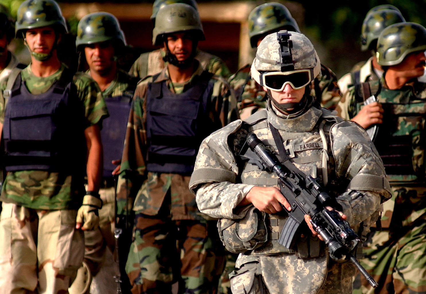 Combattants de l'armée américaine