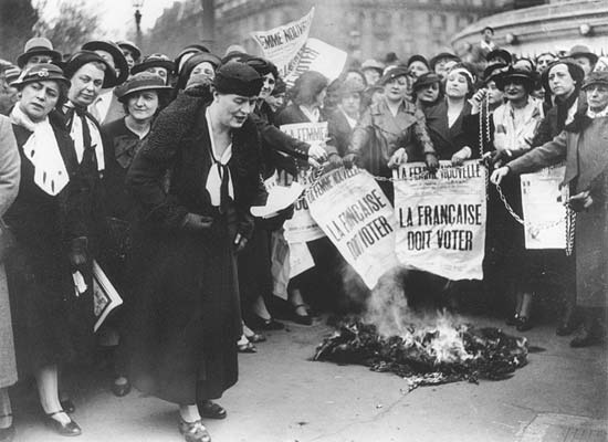 Bataille des femmes pour le droit de vote