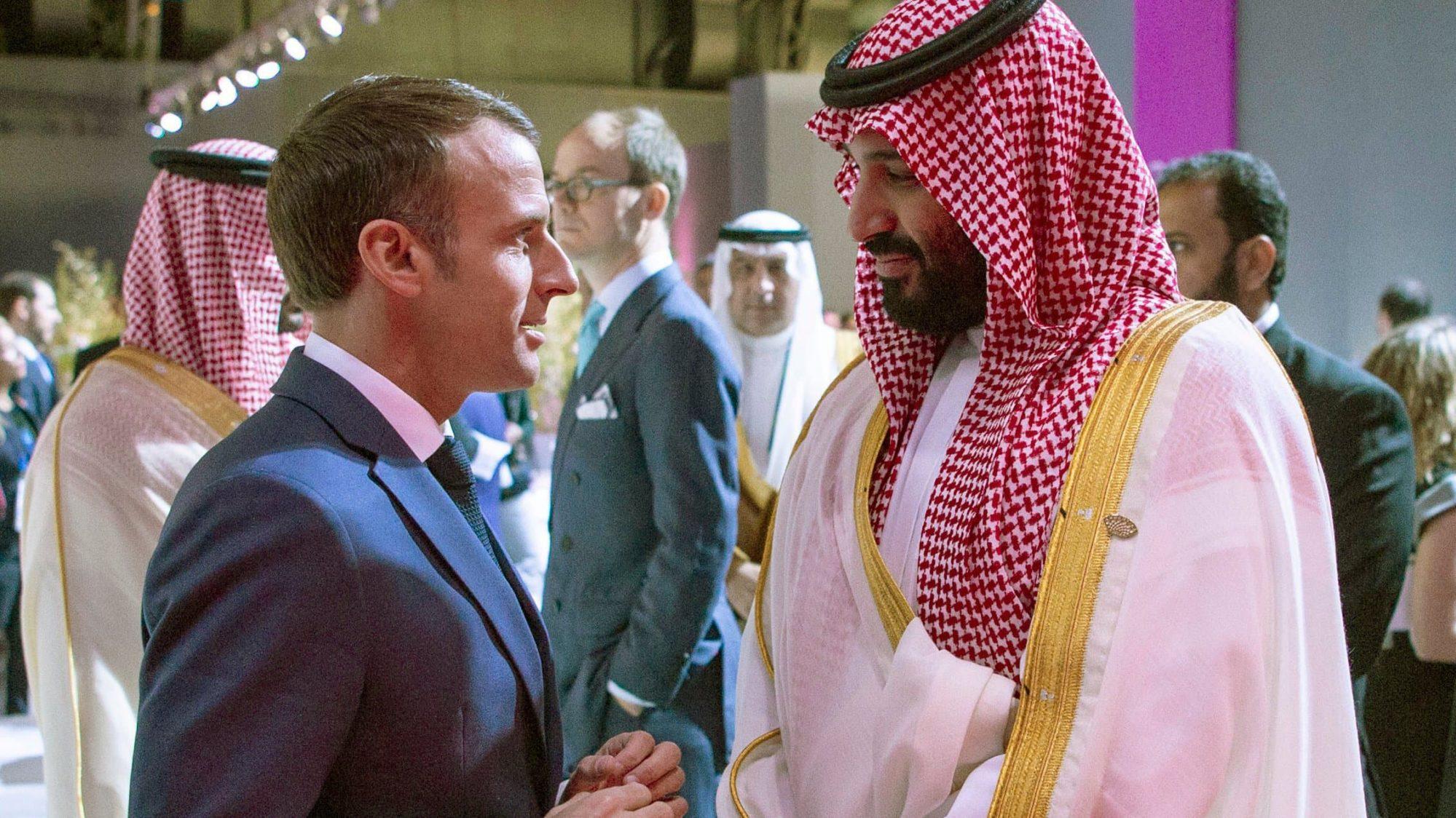 Rencontre entre Emmanuel Macron et le prince d'Arabie Saoudite