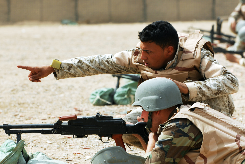 Soldats américains luttant contre le terrorisme au Moyen-Orient