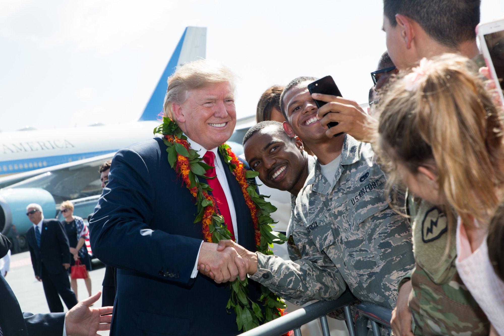Donald Trump en visite à Hawaï