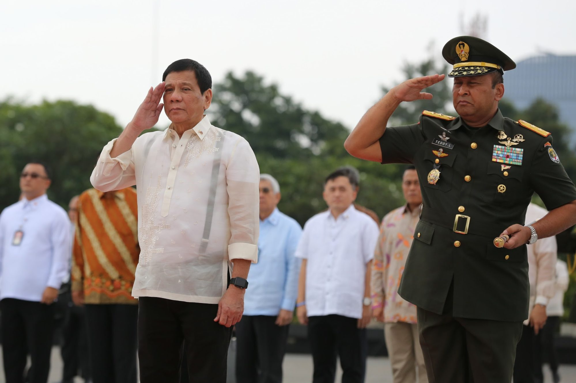 Duterte, dirigeant des Philippines, à une cérémonie