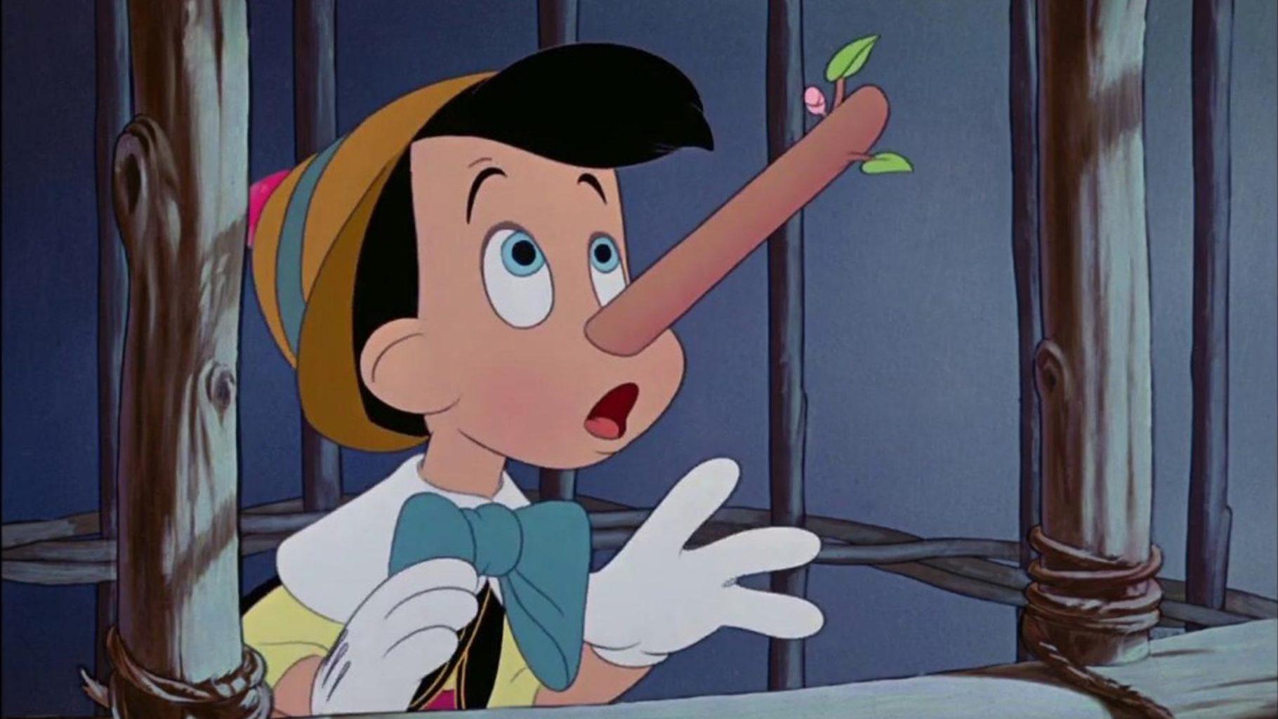Pinocchio a le nez qui s'allonge