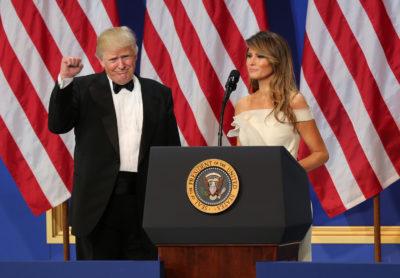 Donald et Melania Trump à un meeting