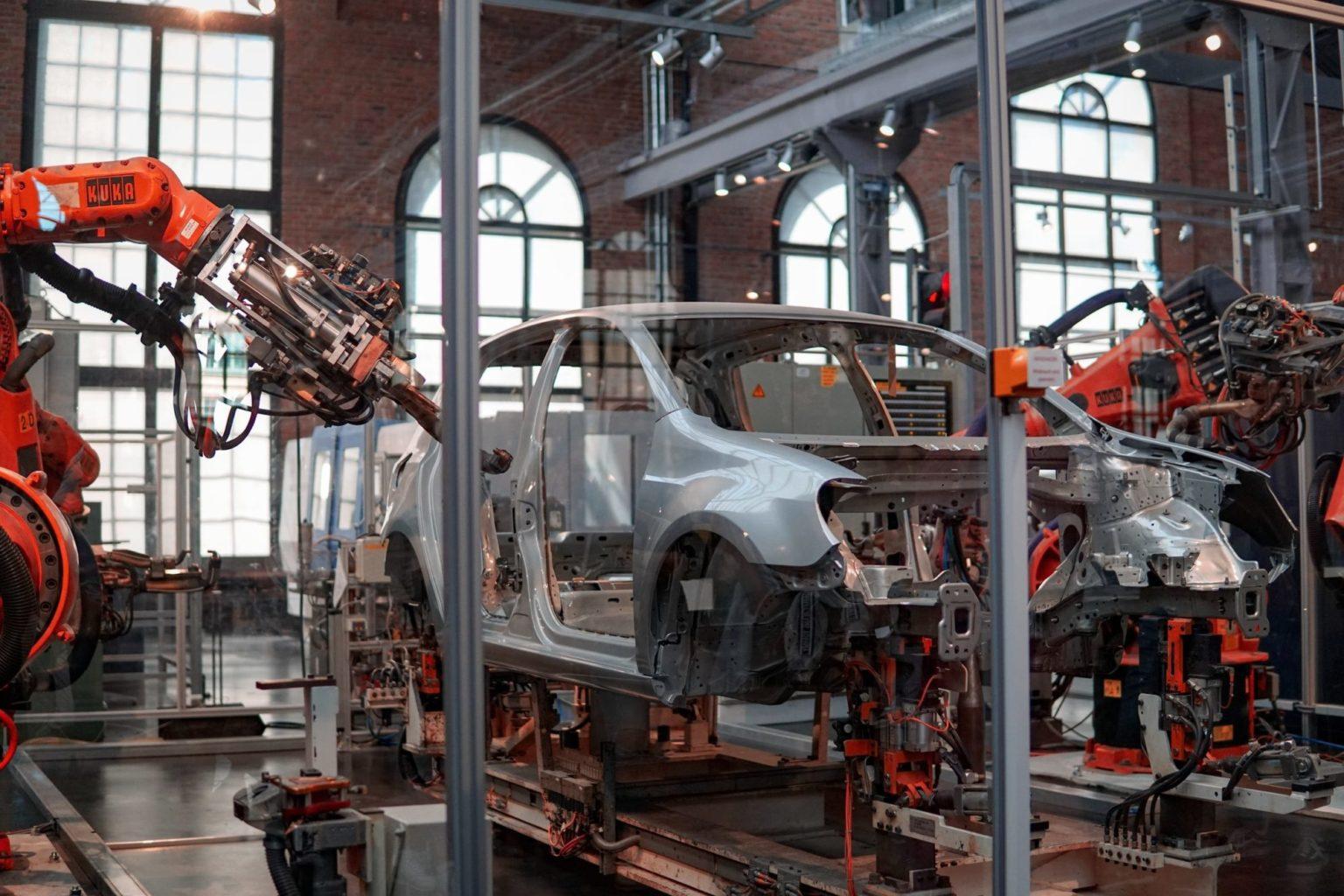 Usine automobile automatisée